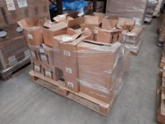 3 Pallets of mixed Ocaldo paints, and 1 pallet of mixed bottled paints, four pallets