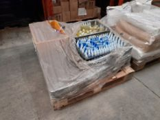 1 Pallet of Hobbycraft 100ml bottles of clear paint, approx. 7 trays, one pallet
