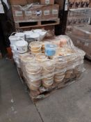 1 Pallet of Ocaldo powder paint, 2.5kg tubs, approx. 100 tubs, various colours, one pallet