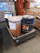 1 Pallet of 4 drums to include; Victorian Blue ASP, 2 - Solution of Cobalt, Rodamine 500%, one