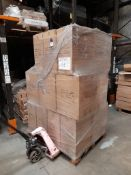 1 Pallet of Asda water pots, 180 per box (3 x 60), approx. 27 boxes, one pallet