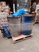 3 Pallets of various oils & chemicals, as lotted, three pallets