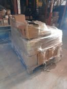 1 Pallet of Morrison's reward stickers, with small quantity of various paint, one pallet