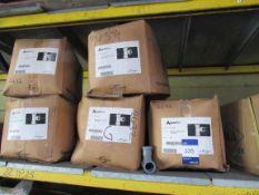 Approx. 8 boxes x QTY 50 - Aquaflow TS1.25G Pushfit Waste 32mm Tee Grey (Approx. 400 Fittings)