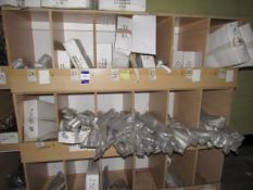 Contents to Wood Storage Unit to include White and Chrome Grab Rails– Various Sizes (Approx.