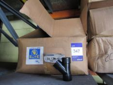 Approx. 1 Box xQty150-Solvent Weld Waste 32mm Branch Tee Black (Approx. 150fittings)