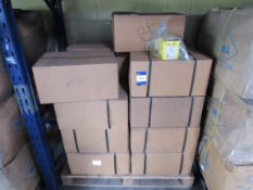 324 Approx. 16 Boxes x QTY 2000 - 16mm Plastic White Hinge Clips (for 15mm Pipes) (Approx. 30,000