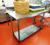 Stainless Steel Bench with Under Shelf and Commercial Can Opener Aprx (1220x610)