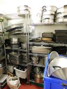Room and Contents to Include Large Quantity of Pots and Pans, Oven Trays, Mixing Bowls, All to 3x