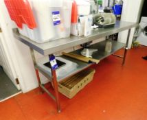Stainless Steel Bench with Under Shelf Aprx (1800x650)