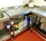 Stainless Steel Bench with Under Shelf Aprx (120x630)
