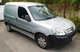 Peugeot Van Registration KO55 CYH, Mileage: Approx