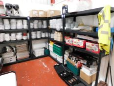 5x Metal Warehouse Shelving Units Approx (1220x460) - contents not included