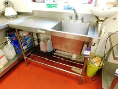 Stainless Steel Deepwell Sink Unit Aprx (1200x600)