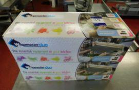 2x Wrapmaster Duo Wrap Dispensers