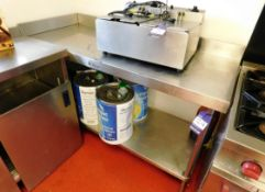 Stainless Steel Bench with Under Shelf Aprx (1500x600)