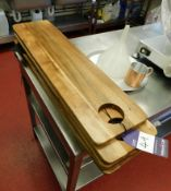 Approx 6x Wooden Serving Boards
