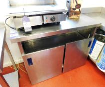Stainless Steel Bench with Under Shelf Aprx (1120x540)