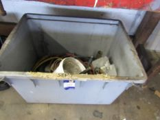 Plastic Tub and Contents