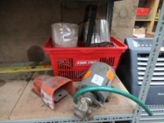 Procon Rotary Vane Pump, Hercules Foot Switch and Box to contain Various Cables