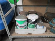 9 Tins of Various Paints