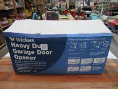 Wickes Heavy Duty Garage Door Opener (No Fob) In Box