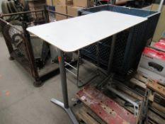 High Office Bench/ Table, 2 x Chrome Framed Bar Chairs