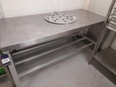 Stainless Steel Bench (Approximately 1700x760mm) (please note this lot also forms part of