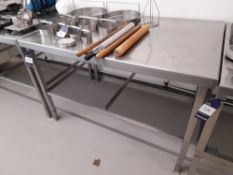 Stainless Steel Bench (Approximately 1370x910mm) (please note this lot also forms part of