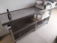 Stainless Steel Bench (Approximately 2000x600mm) (please note this lot also forms part of