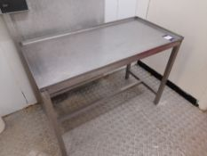 Stainless Steel Bench (Approximately 1200x600mm) (please note this lot also forms part of