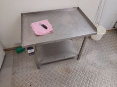 Stainless Steel Bench (Approximately 770x510mm) (please note this lot also forms part of composite