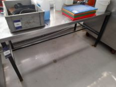 Stainless Steel Bench (Approximately 1700x800mm) (please note this lot also forms part of