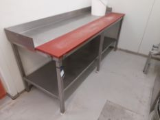 Stainless Steel Bench with Fitted Chopping Board (Approximately 2100x750mm) (please note this lot