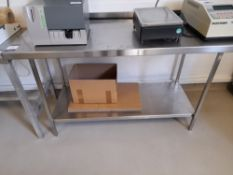 Stainless Steel Bench (Approximately 1530x600mm) (please note this lot also forms part of