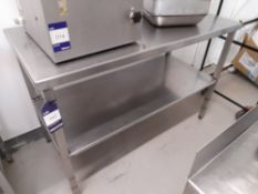 Stainless Steel Bench (Approximately 1300x600mm) (please note this lot also forms part of