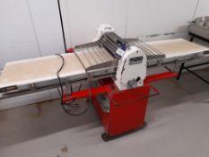 John Hunt Mobile Pastry Break, Model: Epr205, Serial:1104, (Conveyor Approximately: 2250mm). (please