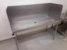 Stainless Steel Wash Station (Approximately 1530x600) (please note this lot also forms part of