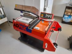 Adpak AD440 Shrink Wrapping Machin, Year: 2007, Serial: 0018312 (Advise Requires New Magnet). (