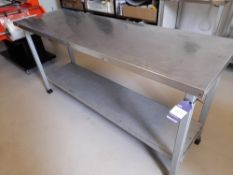 Stainless Steel Bench (Approximately 1750x540mm) (please note this lot also forms part of