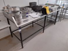 Stainless Steel Bench (Approximately 2450x940mm) (please note this lot also forms part of