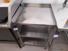 Stainless Steel Bench (Approximately 610x610mm) (please note this lot also forms part of composite