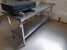 Stainless Steel Bench (Approximately 1800x650mm) (please note this lot also forms part of