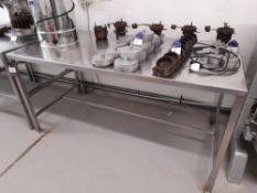 Stainless Steel Bench (Approximately 1800x900mm) (please note this lot also forms part of
