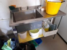 Stainless Steel Scott Deep Well Sink Unit (Approximately 1200x610) (please note this lot also