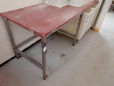 Wooden Bench Top (Approximately 2200x750mm) (please note this lot also forms part of composite lot