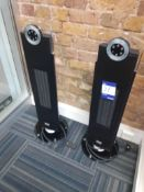2 x Dimplex tower heater / fans. Location – London. Viewing strongly recommended in order to