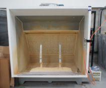 Foshan washing spray booth, with spray gun (Dimensions = 2300 x 2000 x 1650)