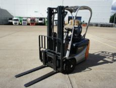 Still RX50-16 counterbalance electric forklift truck, Capacity 1600KG, Triple mast – closed height