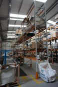 4 x Bays of Apex pallet racking, comprising 5 x uprights (6m x 1.1m), and 32 x crossbeams (3.3m) *